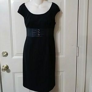 Adrianna Papell lbd little black dress 10p